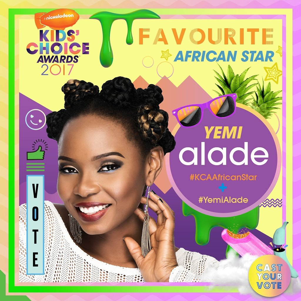 Yemi Alade - Nickolodeon KCA Award Nomination Poster