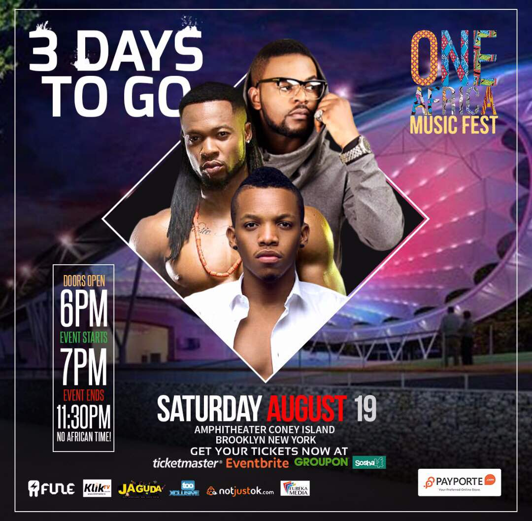 3 days to go! One Africa Music Fest NYC