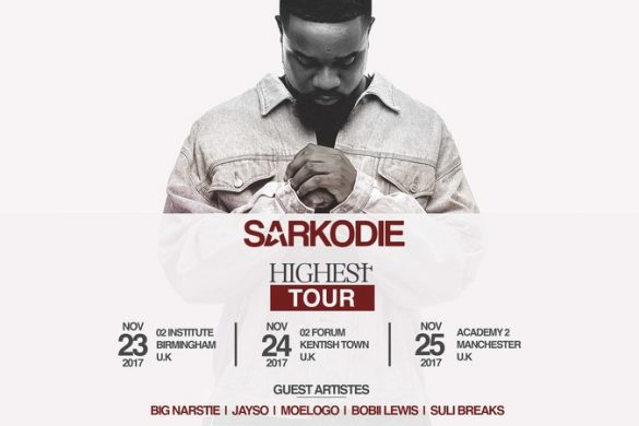 SARKODIE TO EMBARK ON 'HIGHEST' UK NATIONWIDE TOUR IN NOVEMBER