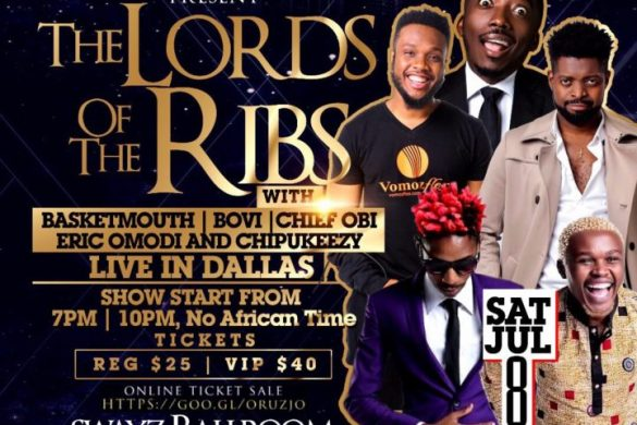 "Basketmouth & Bovi Live in Dallas This Staurday July 8 - ""The Lord of the Ribs"""