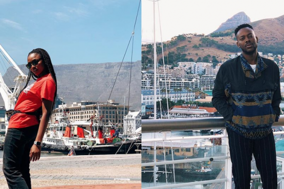 """Nigeria's latest music couple, Adekunle Gold and Simi, who wedded in an ultra-secretive ceremony, are currently having their honeymoon in Cape Town, South Africa. The two married traditionally on Wednesday, January 9, in an unknown location in Lagos, and had a more private wedding the next day, January 10 in Eko Atlantic City. Exclusive footage from the wedding ceremony was used to create their new joint music video """"Promise."""" The couple has been sharing photos of themselves in Cape Town, and they look very beautiful and happy together. Before their surprise wedding, the two had been dating for over five years and had worked together on each other's albums."""